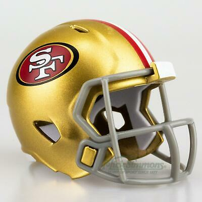 NEW San Francisco 49ers NFL Riddell Pocket Size Speed Helmet