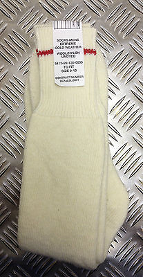 Genuine British Army Extreme Cold Weather (ECW) Wool Socks. All Sizes - NEW