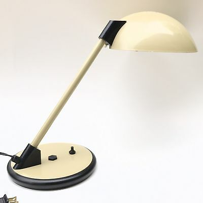 Art Speciality Company Desk Table Lamp Metal Saucer MCM Mid Century Beige Dome