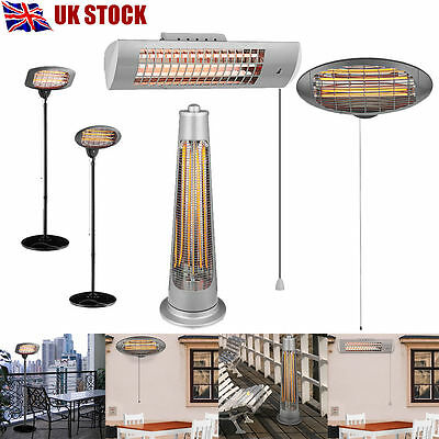 Garden Outdoor Wall Mounted Free Standing Electric Patio Heater Heat Setting BBQ