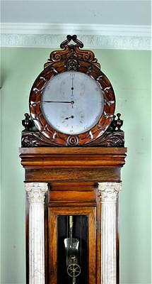 PALATIAL REGULATOR CLOCK OF UNIQUE DESIGN- Carved marble pillars,