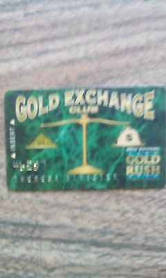 Gold Rush Casino Cripple Creek Colorado Players Club Card Rare Obsolete Vintage