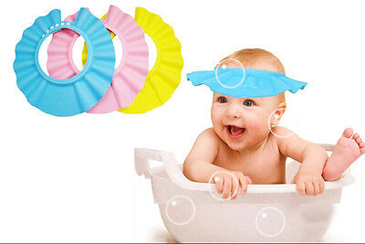 Soft Baby Children Shampoo Bath Shower Cap, PREVENT SHAMPOO FROM EYES (UK SELLER