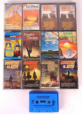country hits anni 70/80 13 musicassette , musica country/west , kassetten, tape