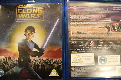 Clone Wars Bluray Very Rare British Cover Oop Deleted Dvd Star Wars Animation