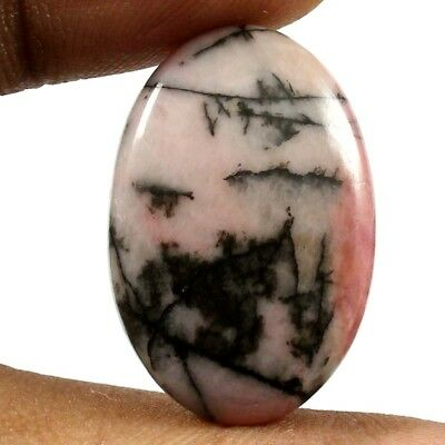 27.20 cts 100% Natural Beautiful Designer Rhodonite Gemstone Oval Loose Cabochon