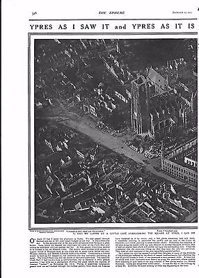 1915 Antique Print - Ww1- Ypres As I Saw It And Ypres As It Is, 2 Pages