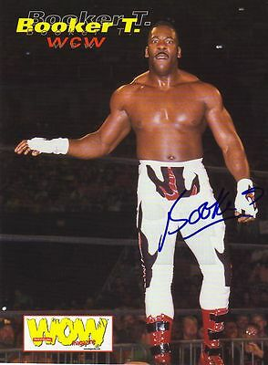 Wwe Wwf Booker T Autographed Hand Signed 8X10 Photo Wrestling Picture