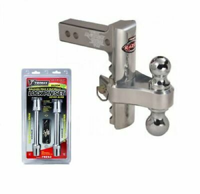 "Trimax TRZ8AL-RP/TRZ52 Hitch 8"" Drop/Rise & Adjustable Keyed-Alike Lock Set"