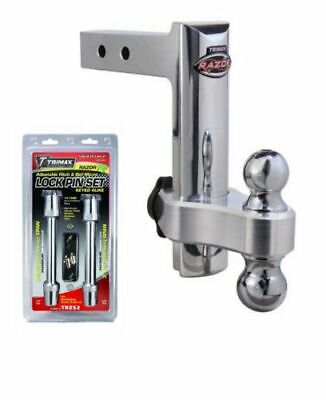 "Trimax TRZ8AL/TRZ52 Adjustable 8"" Hitch w/ Dual Ball & Keyed-Alike Lock Set"