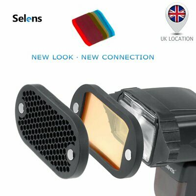 Selens Magnetic Flash Honeycomb Grid Color Filter Kit For Yongnuo Canon Godox UK