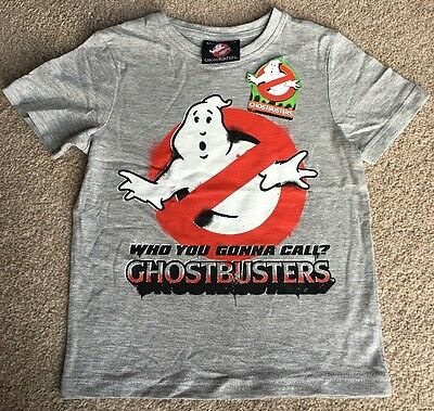 Official Ghostbusters Film Boys Retro 1980's T-Shirt Top Brand New 18-24 Months