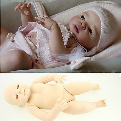 Unpainted Reborn Doll Kits 22'' Reborn Baby Doll Girl Blank Vinyl Silicone Mode