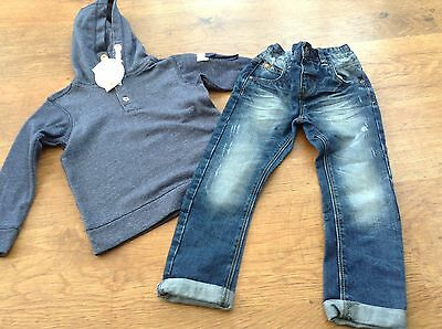 M+S Next Boys Small Bundle / Outfit 3-4 Yrs Hoody Jeans