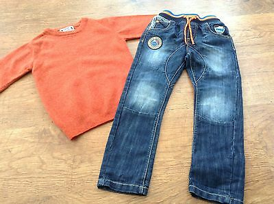 100% Next Boys Small Bundle / Outfit 3-4 Yrs Jumper Jeans
