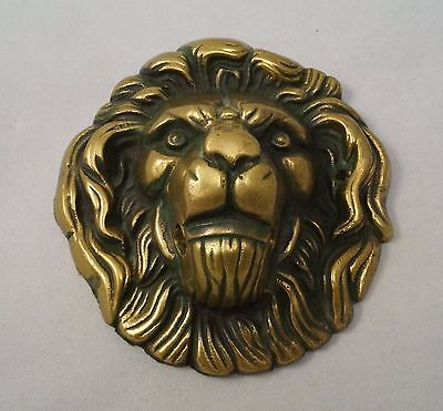 Antique LION Head Cast Brass Heavy Door Knocker