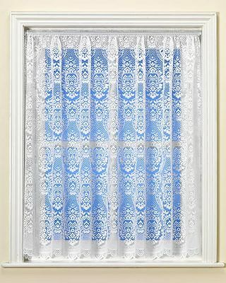 White Net Curtain DOWNTON Design - Vintage - NEW - SELECTED SIZES - CLEARANCE