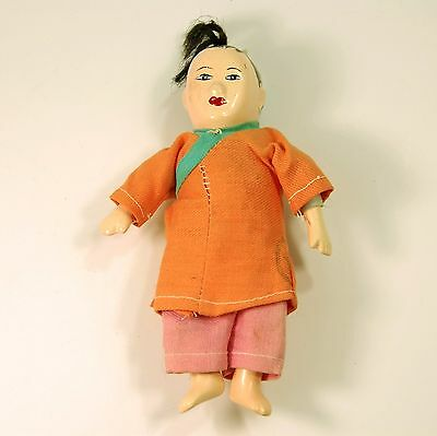 """Micheal Lee ? Chinese Man Composition Doll 5 1/2"""" tall"""