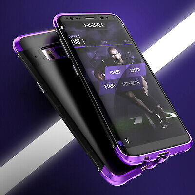 Luxury Aluminum Metal Bumper Slim Shockproof Case Cover For Samsung S8+ / Note 8