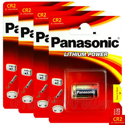 4 x Panasonic Lithium CR2 batteries 3V CR17355 DLCR2 EL1CR2 Camera Photo EXP2026