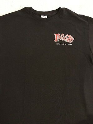 Plaza Hotel & Casino Las Vegas Black T-Shirt Medium NWT