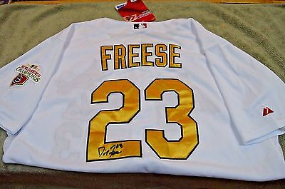 0f36d17f17a Cardinals David Freese Signed Autographed 11 World Series Champion Jersey  Sz 52
