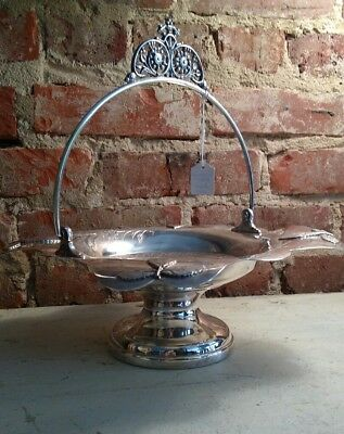 Antique Victorian Silverplate Basket Centerpiece