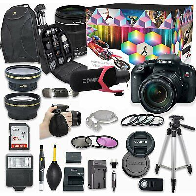 Canon EOS Rebel T7i DSLR Camera Video Creator Kit with Canon EF-S 18-135mm