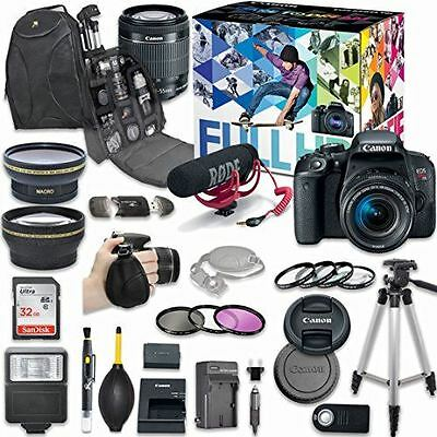 Canon EOS Rebel T7i DSLR Camera Deluxe Video Creator Kit with Canon EF-S 18-55mm
