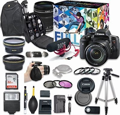 Canon EOS Rebel T6i DSLR Camera Video Creator Kit with Canon EF-S 18-135mm f/3.5