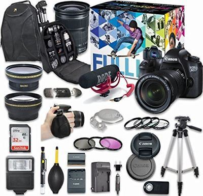 Canon EOS 6D DSLR Camera Video Creator Kit with Canon EF 24-105mm f/3.5-5.6 STM