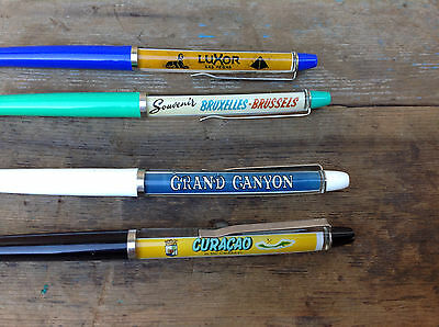 Lot of 4 Made in Denmark Souvenir Floaty Pens