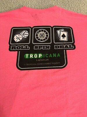 Tropicana Hotel & Casino Laughlin T-Shirt Medium EUC