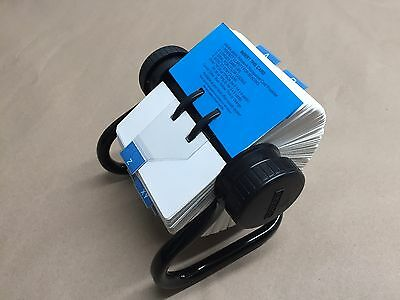 """Rolodex Open Rotary Business Card File Model# 5024X  2-1/4""""x4"""" Card Sleeves"""