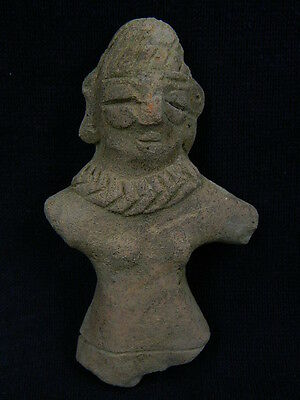 Ancient Teracotta Mother Goddess Torso Indus Valley 600 BC  No Reserve  #SG2230