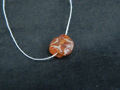 Ancient Etch Carnelian Bead Roman 200 BC  #BE5039
