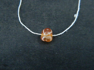 Ancient Etch Carnelian Bead Roman 200 BC #BE5009