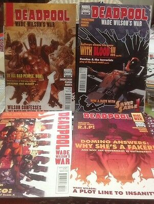 Deadpool Wade Wilson's War 1 2 3 4 Complete Set First Print Marvel Movie