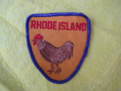 """Vintage State Of Rhode Island Patch 2 5/8"""" X 3 1/4"""""""