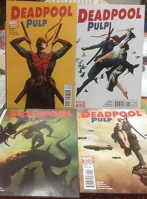 Deadpool Pulp 1 2 3 4 Complete Set First Print Marvel Movie