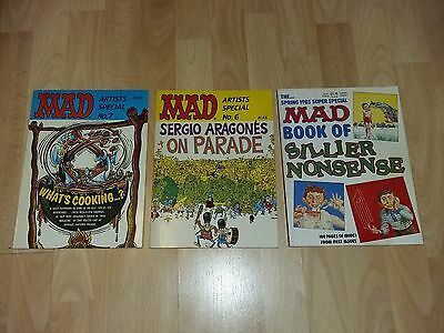 Three MAD Books Artists Special 7 And 6 And Book Of Siller Nonsense