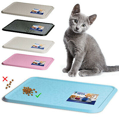 Cat Bowl Mat Dog Pet Feeding Water Food Dish Tray Wipe Clean Floor Placemat