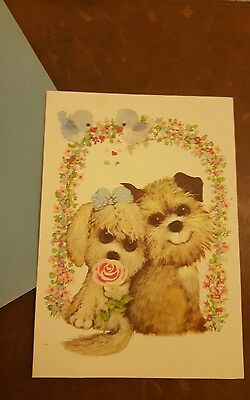 Vintage Anniversary Card - Dogs