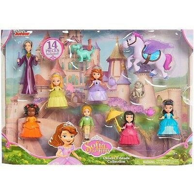 New Disney Junior Sophia The First Deluxe Friends Collection Play Set 14 Pc Doll