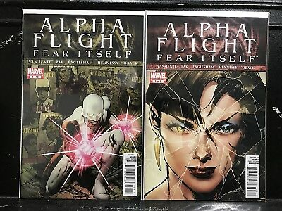 Lot of 2 Alpha Flight #1 & 3 (2011 Series Marvel) Combined Shipping Deal!