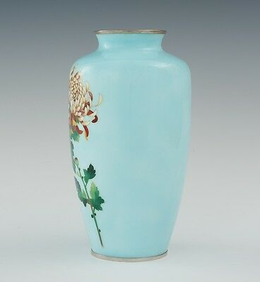 A Cloisonne Vase with Autumn Chrysanthemums, 20th Century