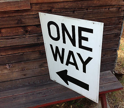 Vintage One Way with Arrow Sign