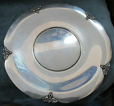 "369.95 Grams ""Sterling Silver"" Fisher ""Alexandria"" Pattern Pierced Plate/Platter"