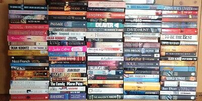 Large fiction Books x 100 (Bulk buy)-good condition
