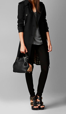 6091eacc90 BURBERRY SMALL MAIDSTONE Canvas LEATHER Tote Crossbody Shoulder Bag, BLACK  - NWT